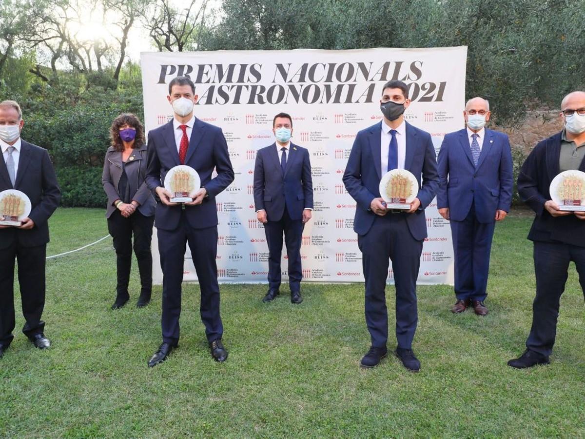 El president Pere Aragonès i la consellera  Teresa Jordà han lliurat els Premis Nacionals de Gastronomia 2021.
