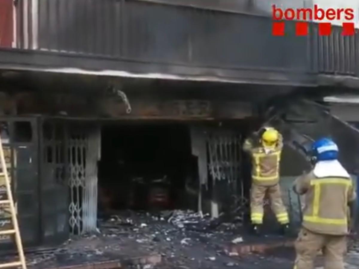 Incendi restaurant del Passeig Marítim de Malgrat de Mar.