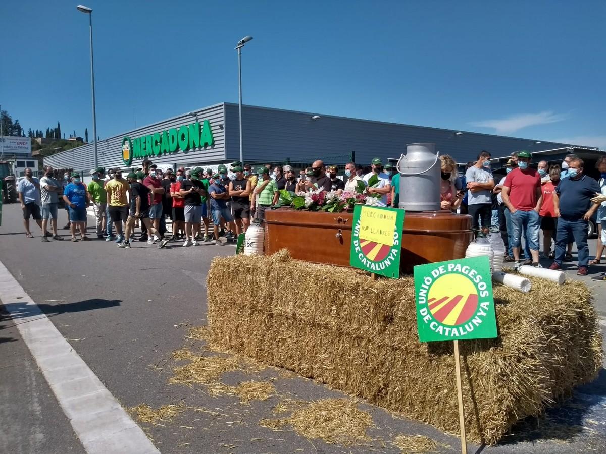 Mobilització de ramaders osonencs a Vic.