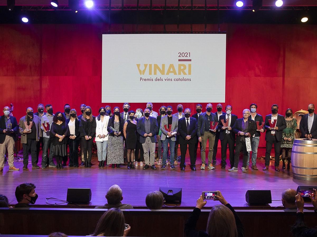 Guardonats dels Premis Vinari 2021.