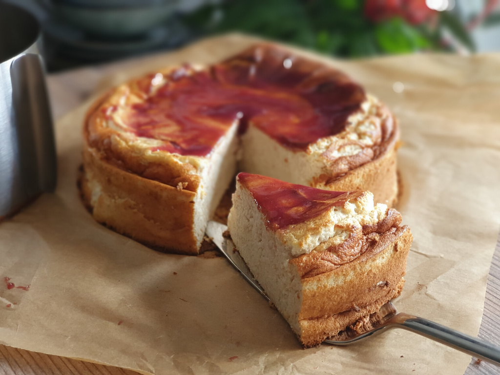 Foto: Pastís esponjós de formatge. Autor: Núria Escalona